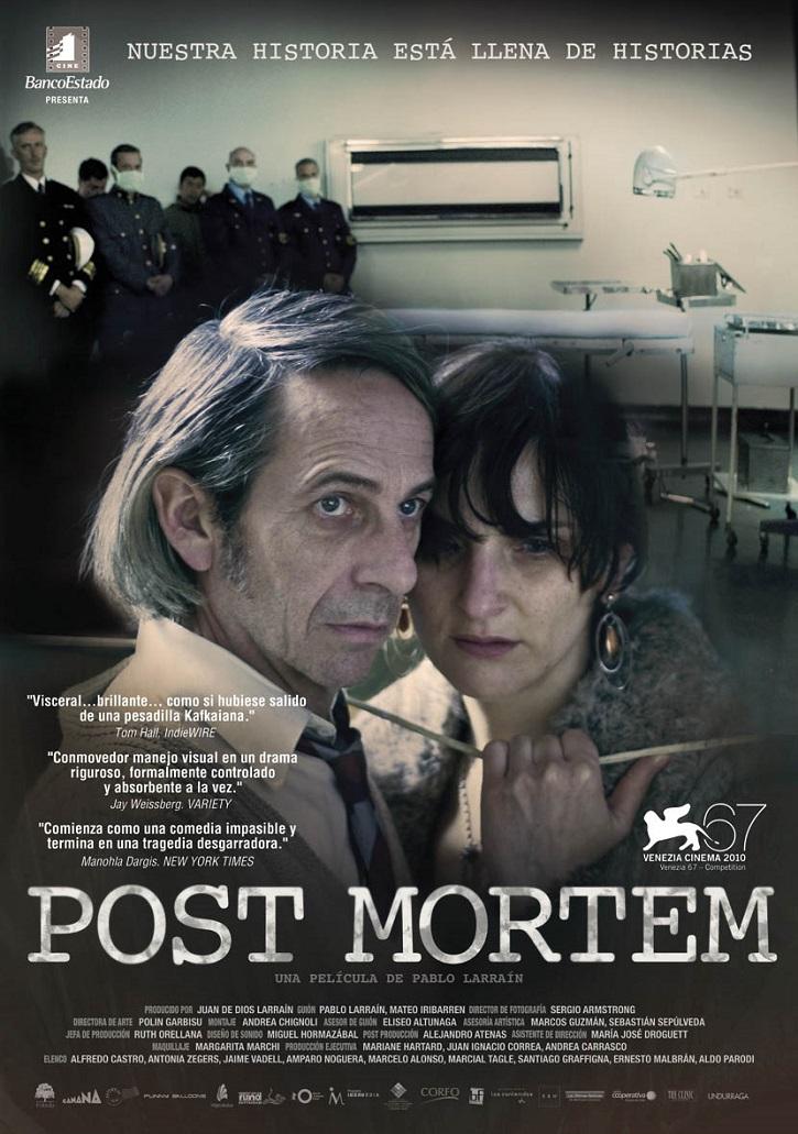 Cartel promocional del filme Post mortem | Gael García Bernal protagonizará 'Ema' que dirigirá Pablo Larraín