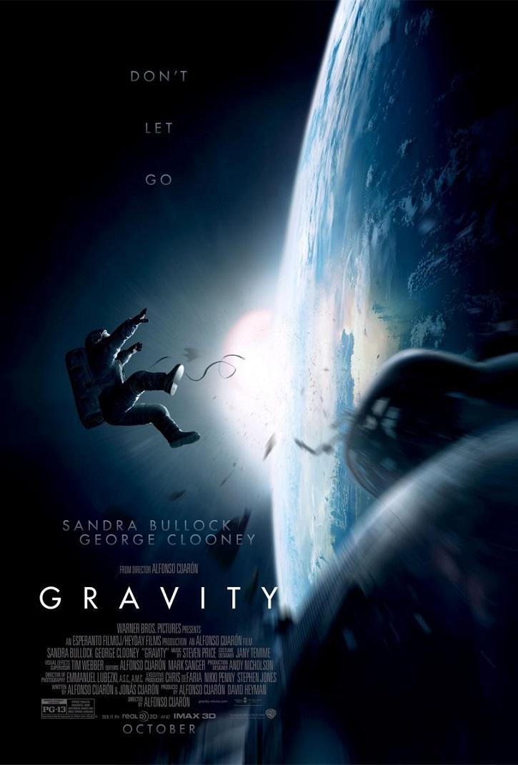 Cartel promocional del filme Gravity, dirigido por Alfonso Cuarón | 'Roma' podría darle a Alfonso Cuarón el León de Oro