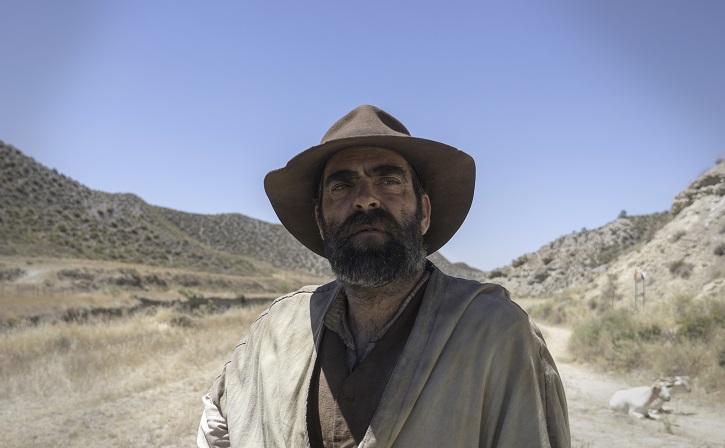El actor Luis Tosar durante el rodaje de una escena de Intemperie | Benito Zambrano rueda en Granada 'Intemperie' junto a Luis Tosar