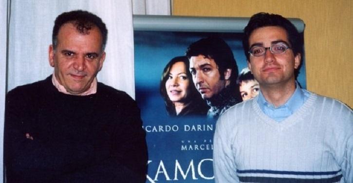 El director de cine, Marcelo Piñeyro junto al periodista José Luis Panero, tras una entrevista durante la promoción de Kamchatka en Madrid | Ricardo Darín protagonizará '1985', thriller inspirado en la dictadura argentina