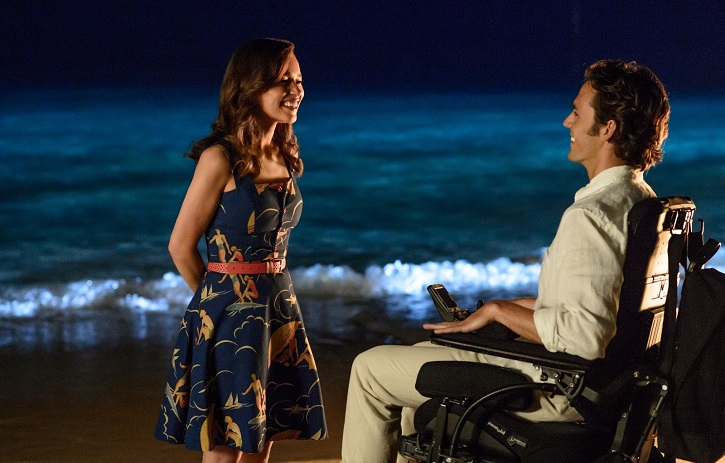 Emilia Clarke y Sam Claflin en momento divertido del filme | Telecinco emite 'Antes de ti', propaganda nítida sobre la eutanasia