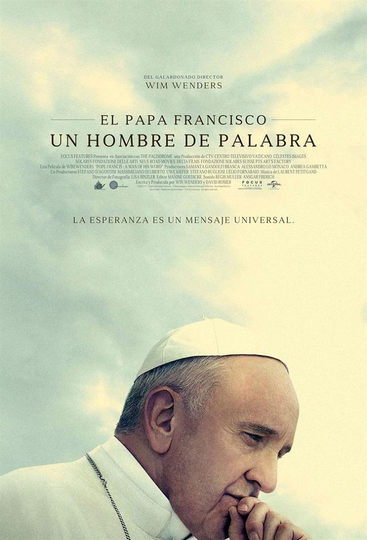 Cartel promocional del filme El Papa Francisco: Un hombre de palabra, dirigido por Wim Wenders | 'El Papa Francisco: Un hombre de palabra'. Triunfa Wim Wenders