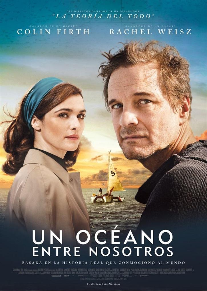 Cartel promocional del filme Un océano entre nosotros, de James Marsh | 'Un océano entre nosotros': Fallido biopic, incluso con Colin Firth