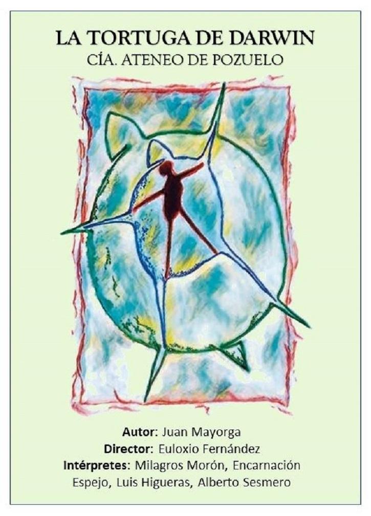 Cartel promocional de la pieza teatral La tortuga de Darwin | Ateneo de Pozuelo representará La tortuga de Darwin en Educarte
