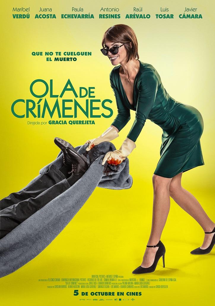 Cartel promocional del filme Ola de crímenes | 'Ola de crímenes': Gracia Querejeta se estrella con la comedia