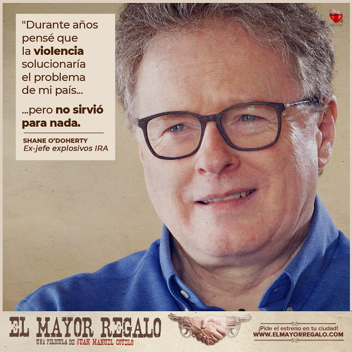 Reflexión de Shane O'Doherty | Listado de cines confirmados en España | Juan Manuel Cotelo ha preparado para ti 'El mayor regalo'