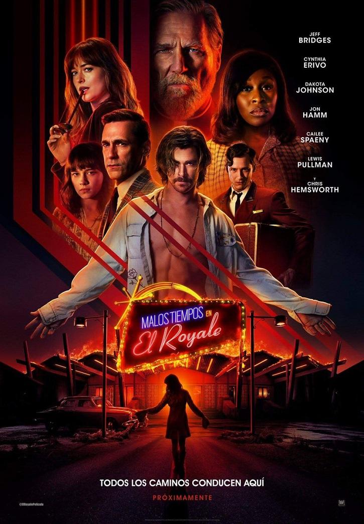 Cartel promocional del filme Malos tiempos en el Royale | 'Malos tiempos en el Royale': convence el thriller de Goddard