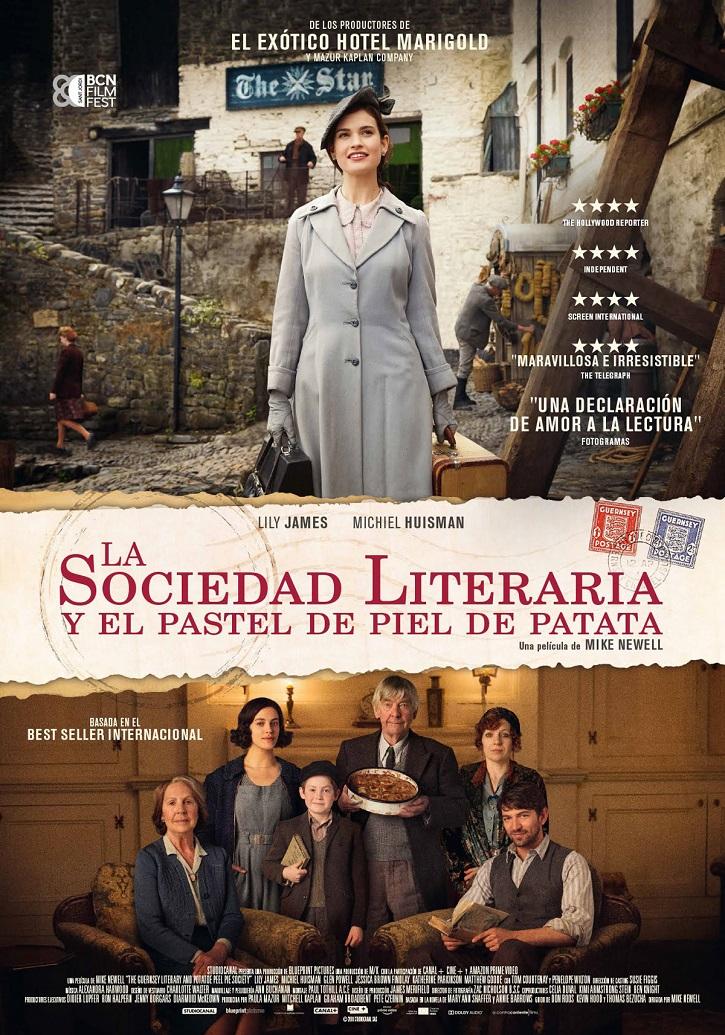 Cartel promocional de La sociedad literaria y el pastel de patata | Los Cines Verdi programan un ciclo de cine para estudiantes