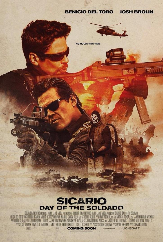 Cartel promocional de Sicario: el día del soldado | 'Sicario: el día del soldado' y 'Misión imposible: fallout' en DVD