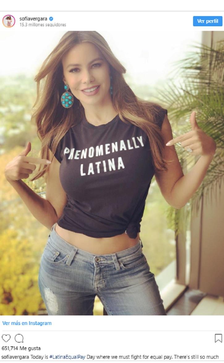 Sofía Vergara, actriz en busca de la igualdad salarial de las mujeres | Hollywood sigue ninguneando a las actrices latinas con salarios bajos