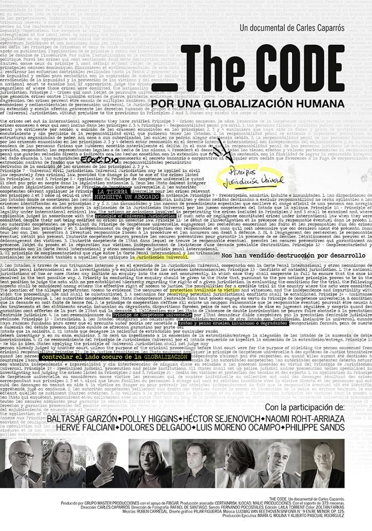 Cartel promocional de The code. Por una globalización humana | I Encuentro de Cine solidario en Alcalá de Henares