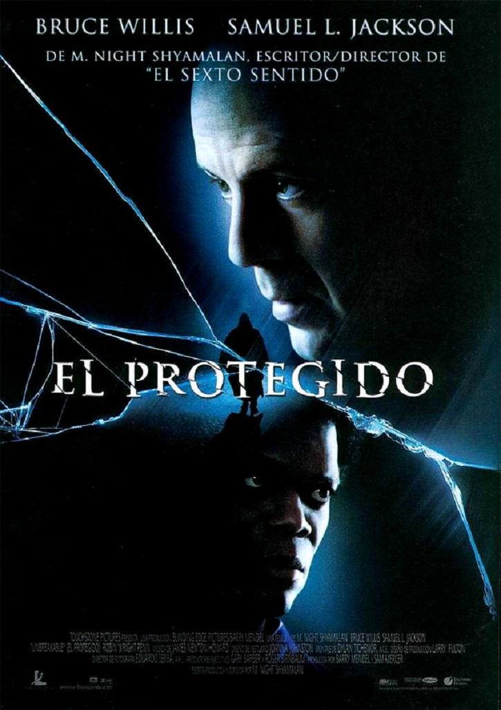 Cartel promocional del filme El protegido | Ramón Monedero firma el único ensayo en español sobre Shyamalan