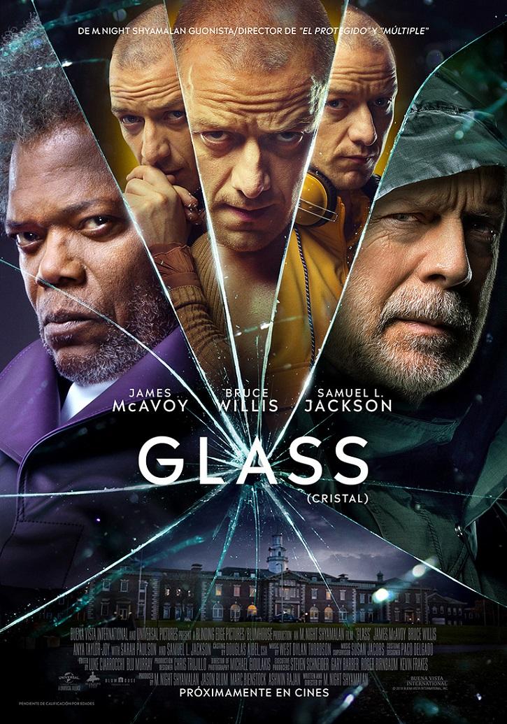 Cartel promocional del filme Glass | Ramón Monedero firma el único ensayo en español sobre Shyamalan