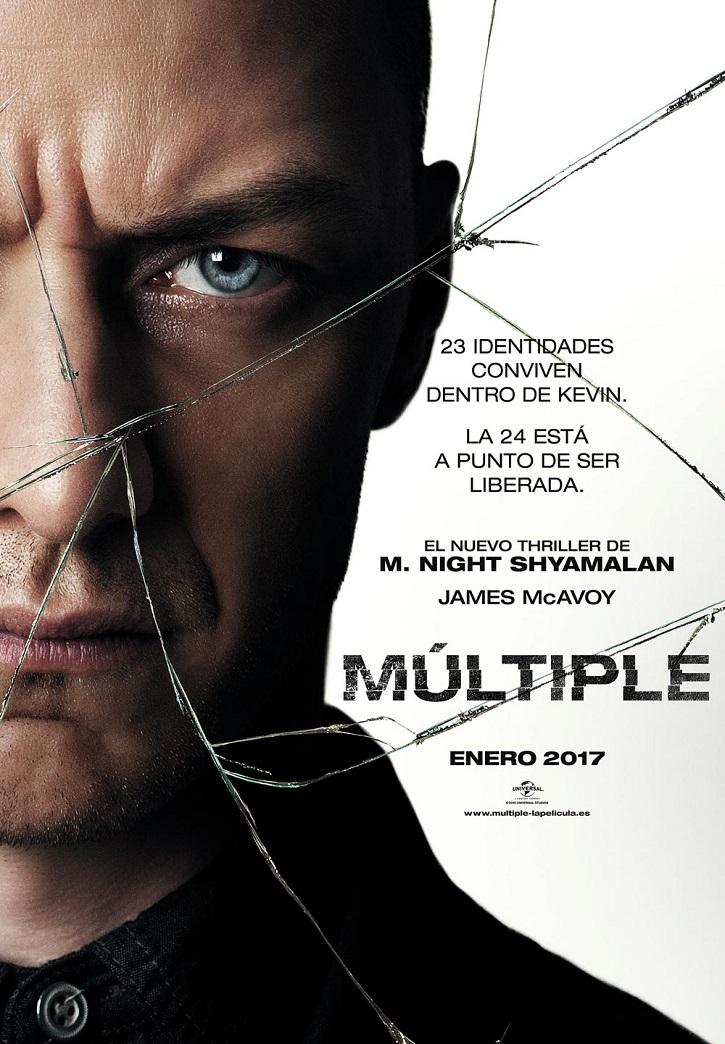 Cartel promocional del filme Múltiple | Ramón Monedero firma el único ensayo en español sobre Shyamalan