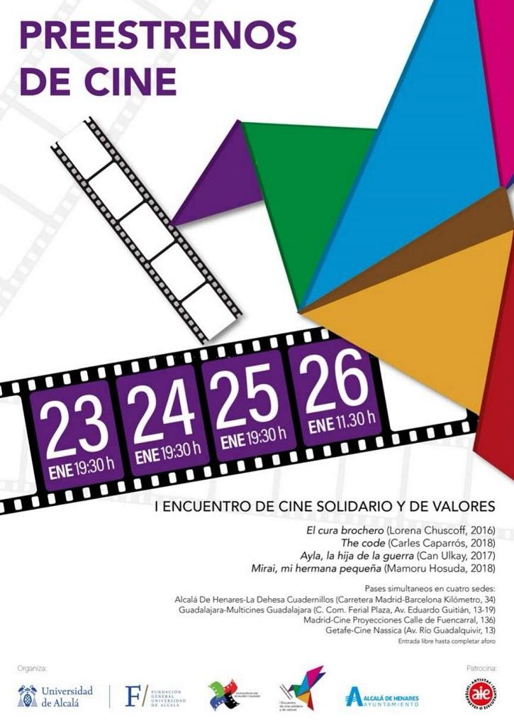Relación de preestrenos gratuitos del I Encuentro de cine solidario y de valores | I Encuentro de Cine solidario en Alcalá de Henares