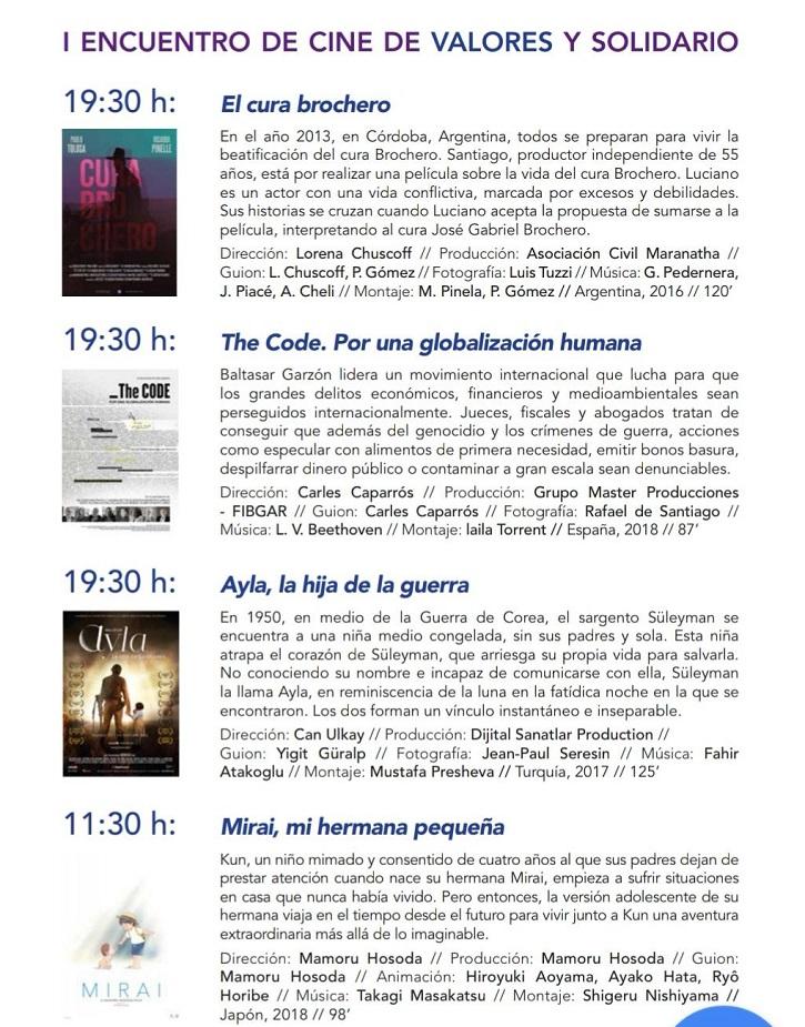 Ficha técnica y sinopsis de los preestrenos | I Encuentro de Cine solidario en Alcalá de Henares