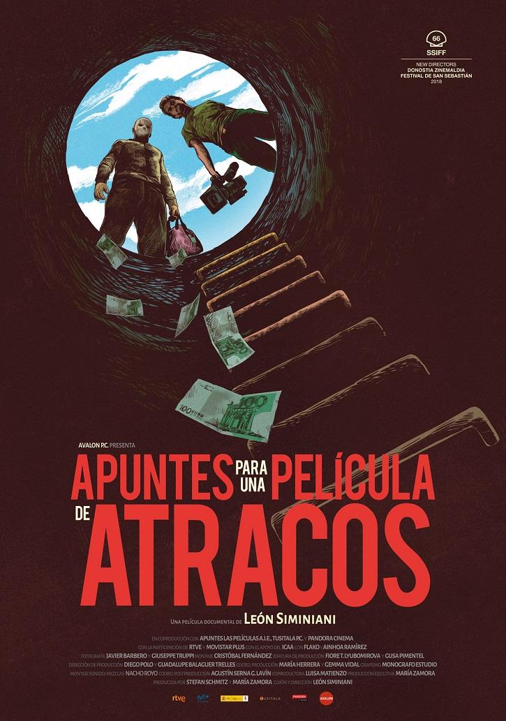 Cartel promocional de Apuntes para una película de atracos | Arranca la VI edición de Educacine en Madrid
