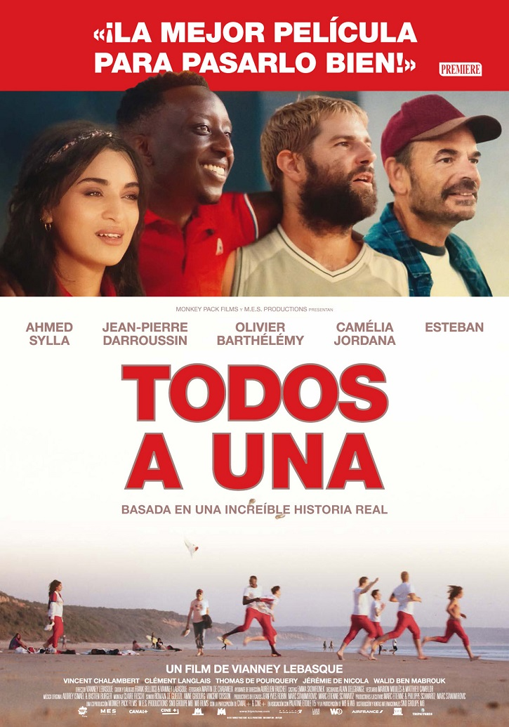 Cartel promocional del filme francés Todos a una | 'Todos a una': Los campeones de Vianney Lebasque no convencen