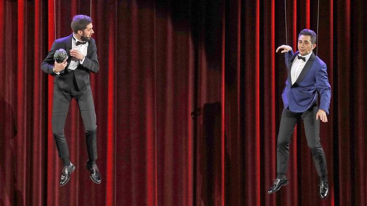 David Broncano y Berto Romero | 'Premios Goya': 'El Reino', 7 pero gana 'Campeones' con 3