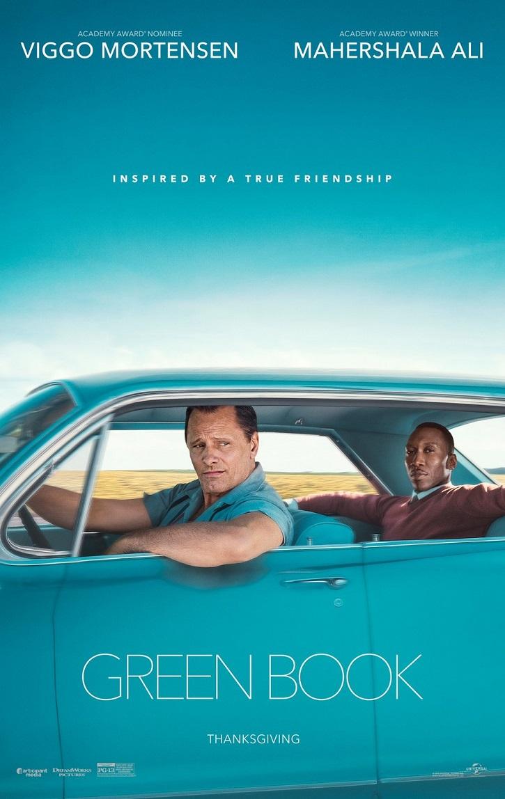 Cartel del biopic Green Book, de Peter Farrelly | Oscars 2019: 'Green Book' gana la película y Cuarón el director