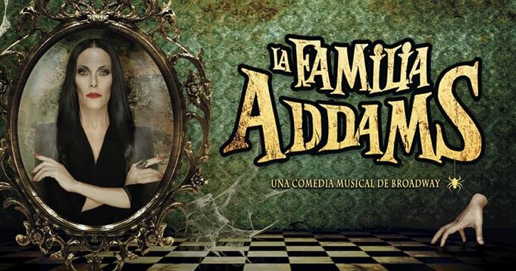 Cartel de La familia Addams | Llega a Madrid 'El Jovencito Frankenstein' 'Ghost' 'Jesus Christ Superstar'