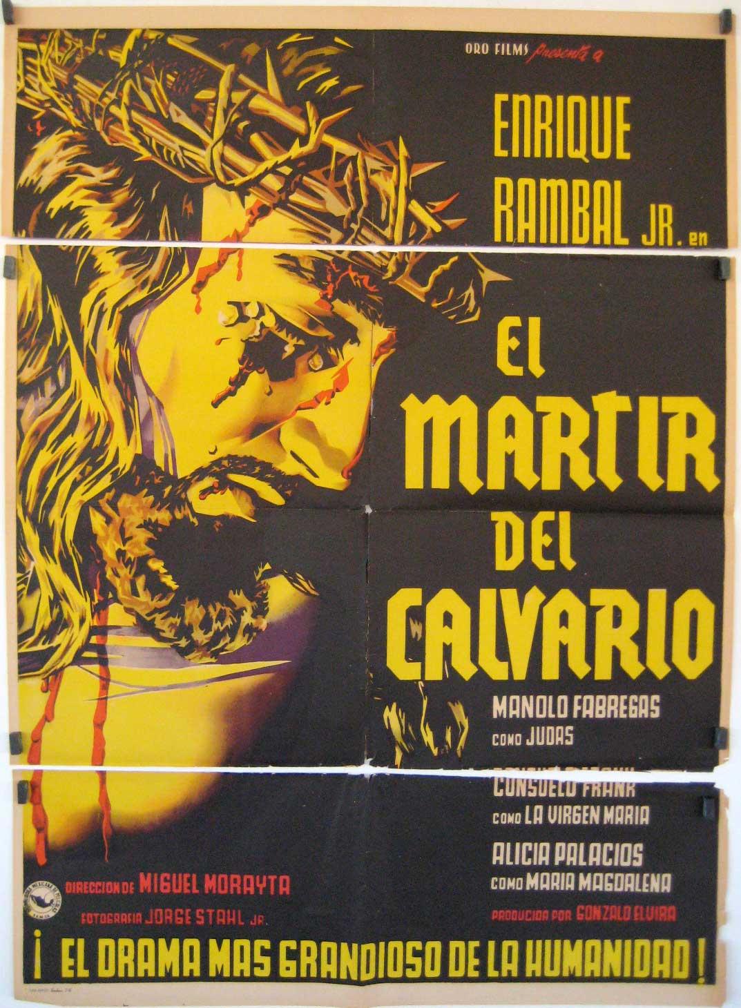 Cartel promocional de El mártir del calvario | Viernes Santo: El cine de la Semana Santa alza la voz