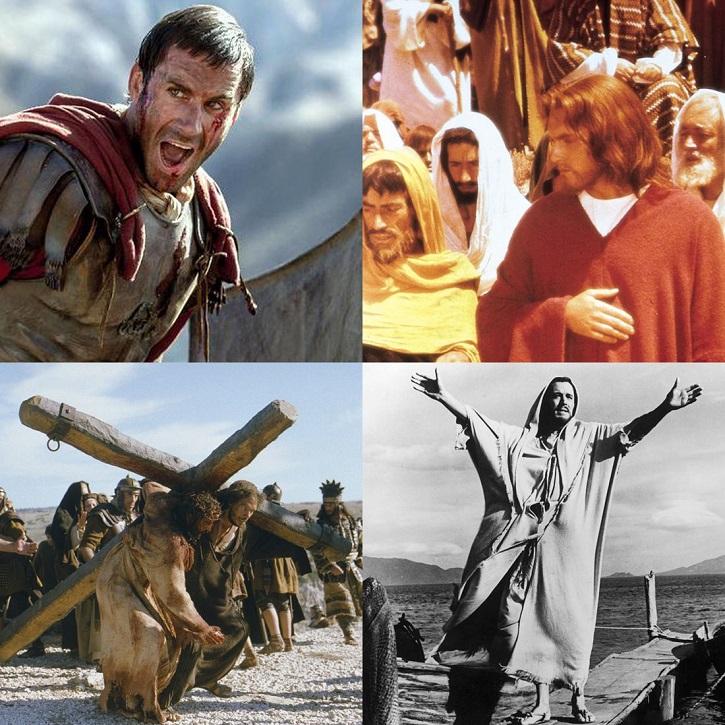 Mosaico de fotogramas sobre la vida de Jesús | Sábado Santo: El cine de la Semana Santa alza la voz