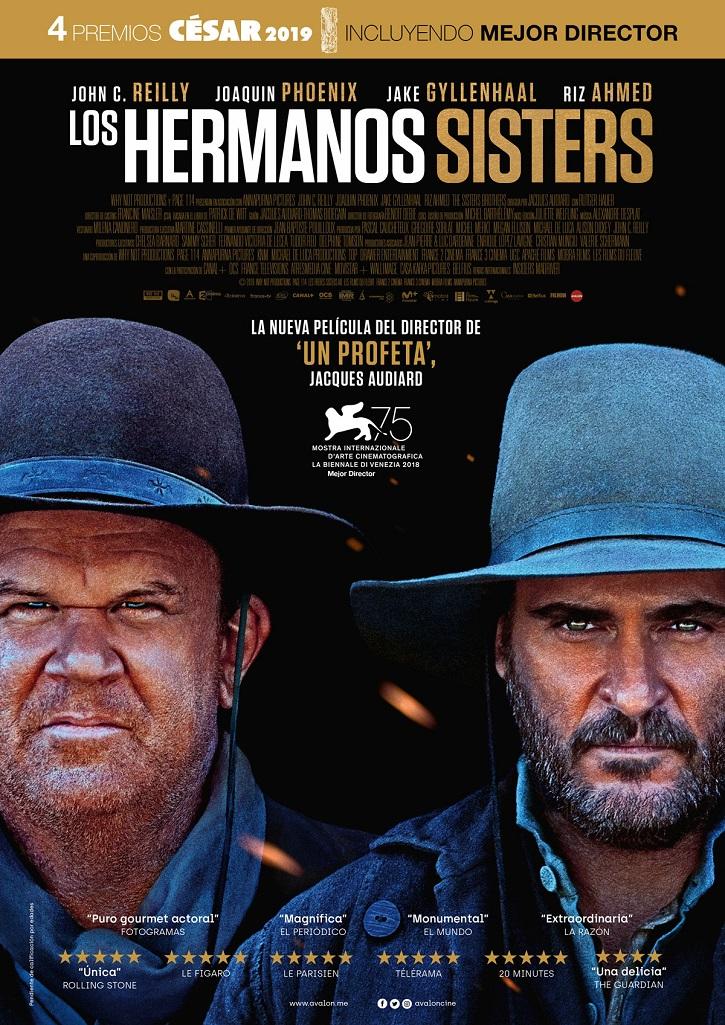 Cartel promocional de Los hermanos Sisters | 'Los hermanos Sisters': Jaques Audiard resucita al western fraternal