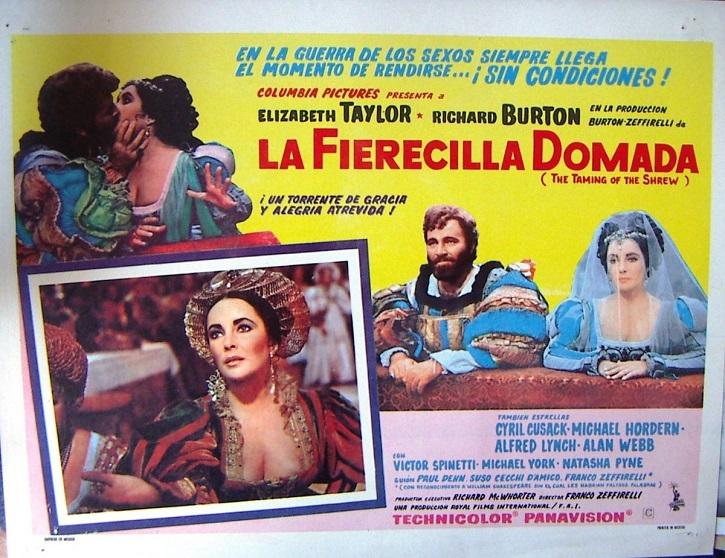 Cartel promocional de La fierecilla domada, de Franco Zeffirelli | Franco Zeffirelli contempla hoy a su 'Jesús de Nazaret'