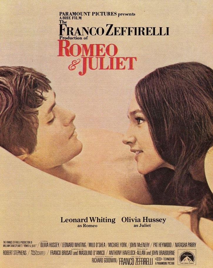 Cartel promocional de Romeo y Julieta | Franco Zeffirelli contempla hoy a su 'Jesús de Nazaret'