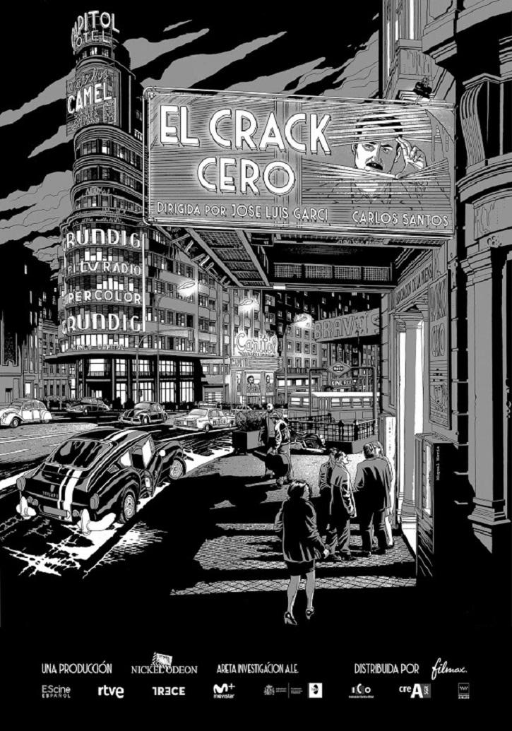 Cartel promocional del filme de José Luis Garci El Crack Cero | 'El Crack Cero': Garci revive al detective Germán Areta en blanco y negro