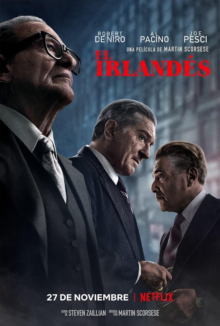 Cartel promocional de El Irlandés, drama del oscarizado Martin Scorsese | 'El Irlandés': Martin Scorsese padrino del crimen organizado
