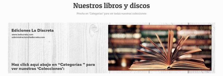 Catálogo Libros La Discreta   La editorial 'La Discreta' celebra sus 20 años de naufragio
