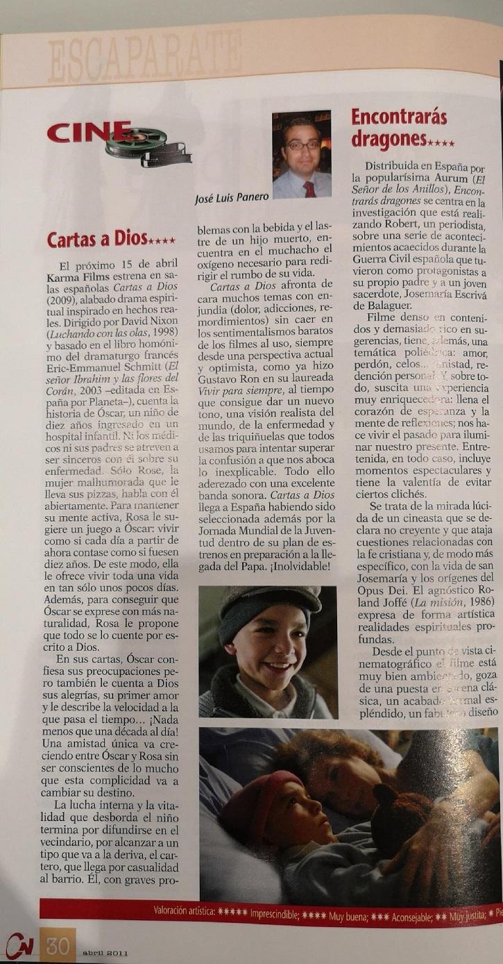 Crítica de la película Cartas a Dios | 'Óscar o la felicidad de existir' revienta la Sala Arapiles 16