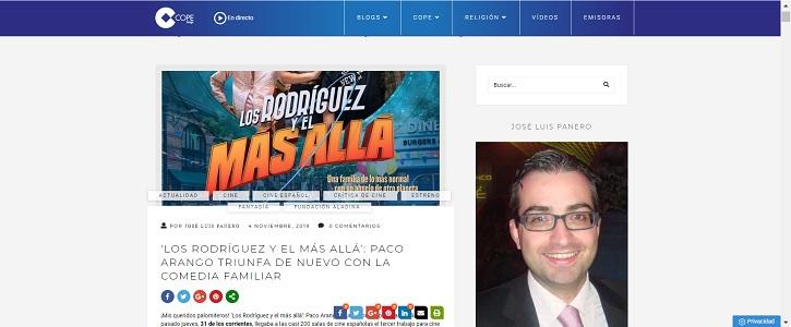 Captura del blog Palomitas de Maíz en 2019 | 'Palomitas de Maíz' cumple hoy 11 años: ¡Muchísimas felicidades!