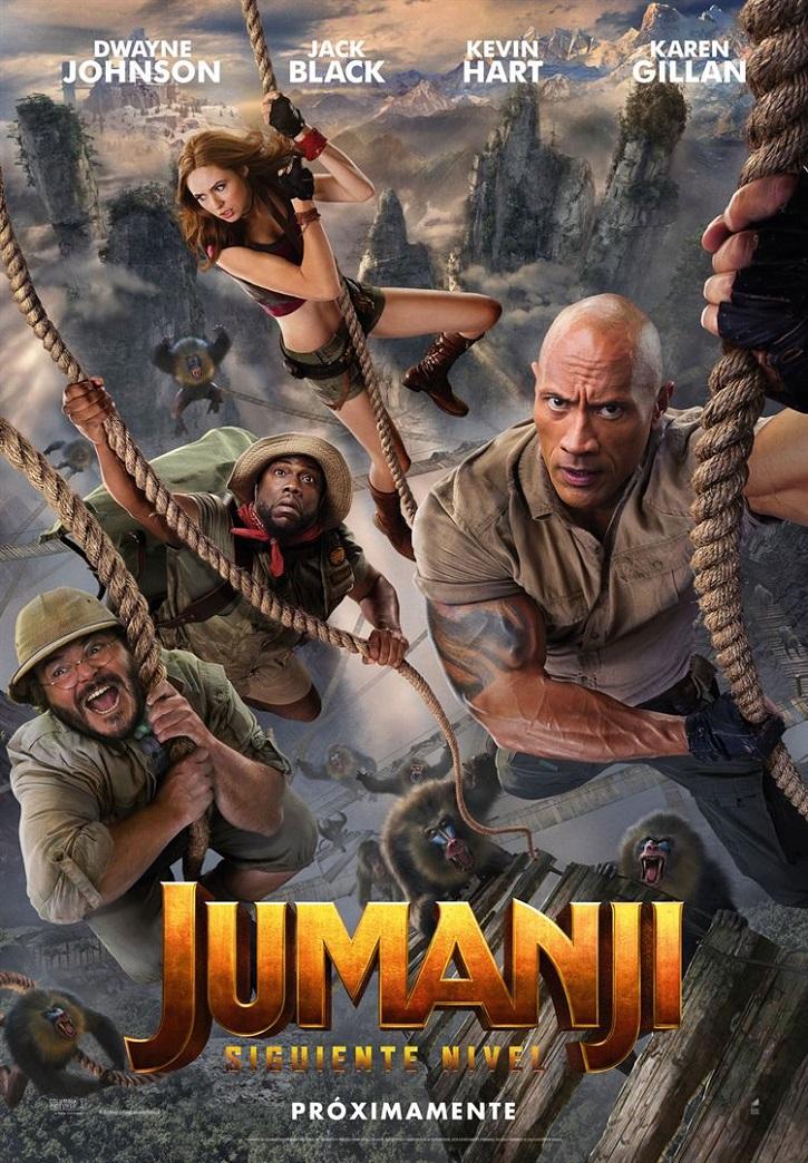 Cartel promocional del filme Jumanji: Siguiente nivel | 'Jumanji: Siguiente nivel': Jake Kasdan se conforma con la mediocridad
