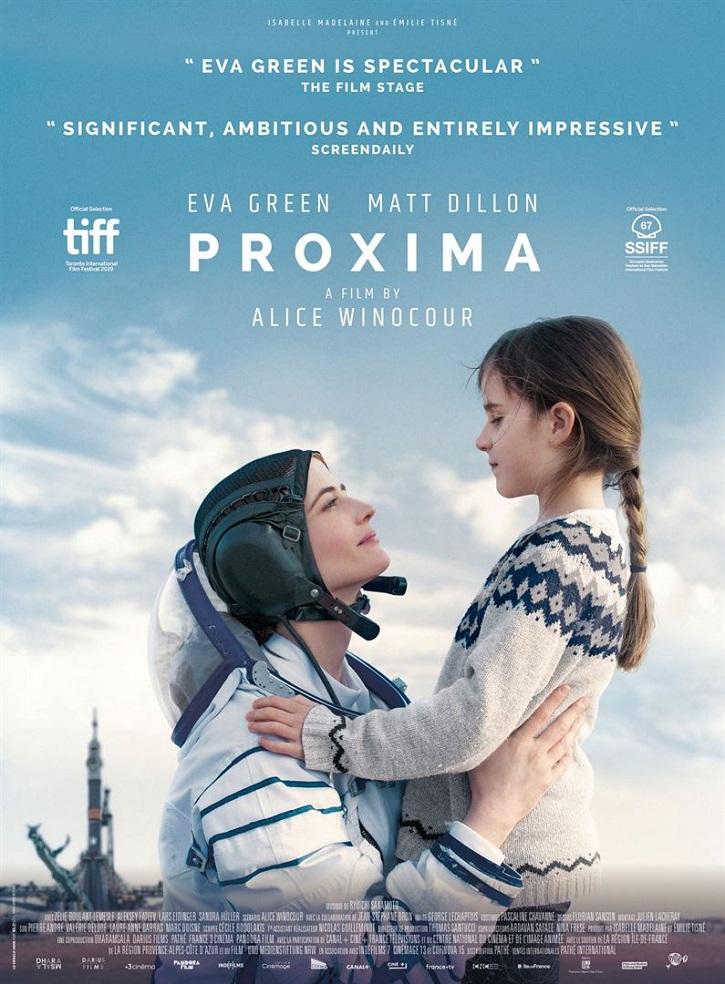 Cartel promocional del filme Proxima, dirigido por la parisina Alice Winocour y protagonizado por Eva Green y Matt Dillon | 'Proxima': Alice Winocour redefine con elegancia el papel de madre