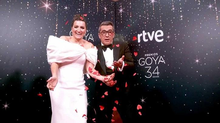 Silvia Abril y Andreu Buenafuente | 'Premios Goya 2020': 'Dolor y Gloria' arrasa con 7 estatuillas