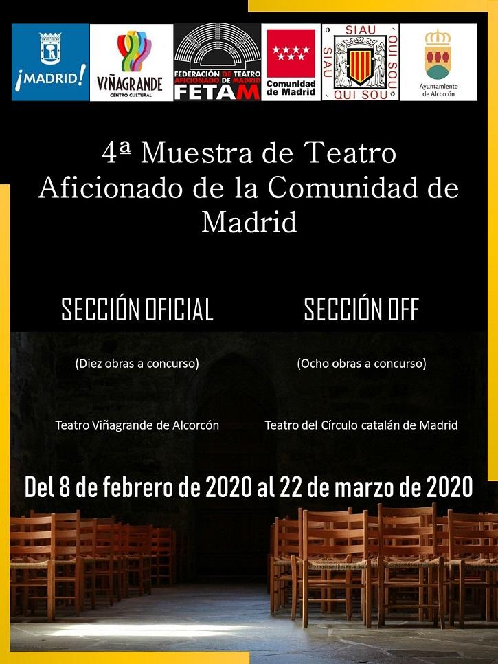 Cartel de la Muestra de Teatro de la FETAM en su cuarta edición | Ateneo de Pozuelo en IV Muestra de FETAM con 'En el estanque dorado'