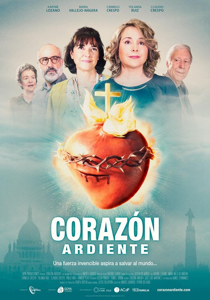 Cartel promocional del filme Corazón Ardiente | 'Corazón Ardiente' es la peli definitiva sobre el Sagrado Corazón de Jesús