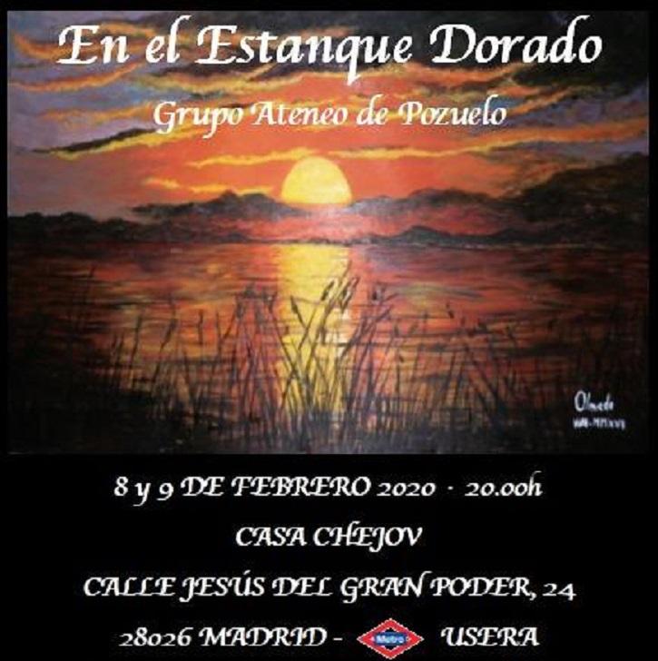 Cartel promocional de En el estanque dorado | 'En el estanque dorado' llega a la Casa Chejov con el Ateneo de Pozuelo