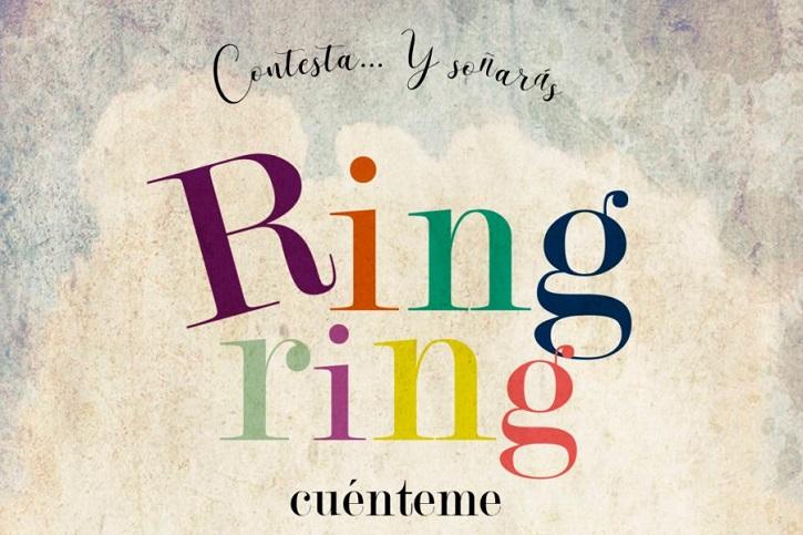 Cartel de la pieza teatral | Impecable Natalia Erice en la Sala Mirador con 'Ring, ring, cuénteme'