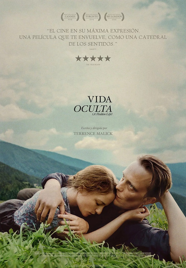 Cartel promocional del filme Vida oculta | 'Vida oculta': Terrence Malick entrega un vivificante testimonio de fe