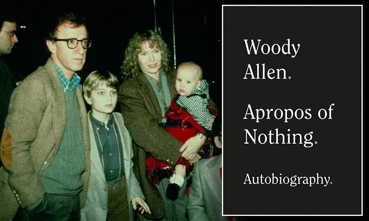 Cartel promocional de la autobiografía de Woody Allen en USA | Alianza Editorial lanza autobiografía de Woody Allen 'A propósito de nada'