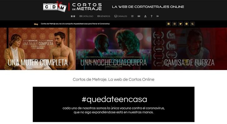 Cabecera de Cortos de Metraje | La plataforma de cine 'Cortos de Metraje' cumple hoy 4 años