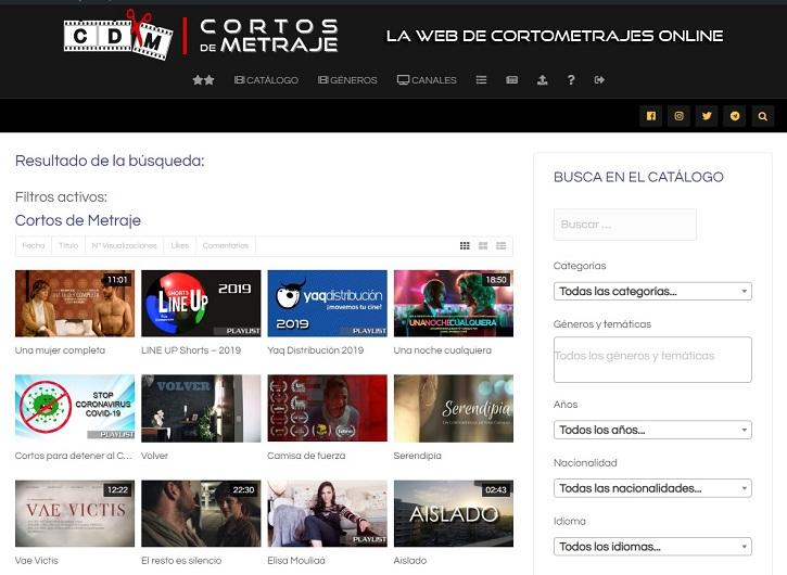 Catálogo | La plataforma de cine 'Cortos de Metraje' cumple hoy 4 años