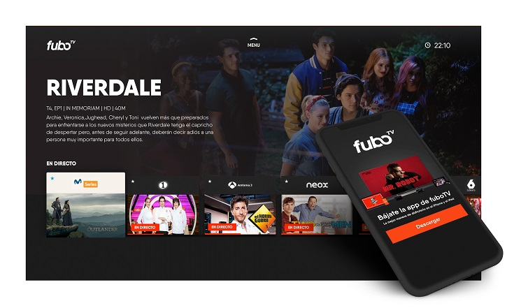 Menú de navegación de fuboTV | 'FuboTV' firma una alianza con 'ViacomCBS Networks España'