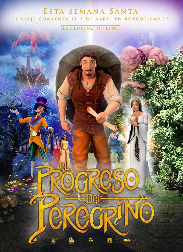 Cartel promocional del filme El Progreso del peregrino | 'El Progreso del peregrino': deja que el cine te salve con Bosco Films