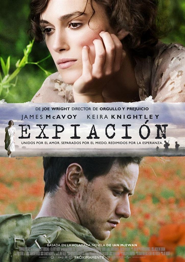 Cartel promocional del drama romántico | 'Expiación': Joe Wright analiza el peso trágico de la existencia