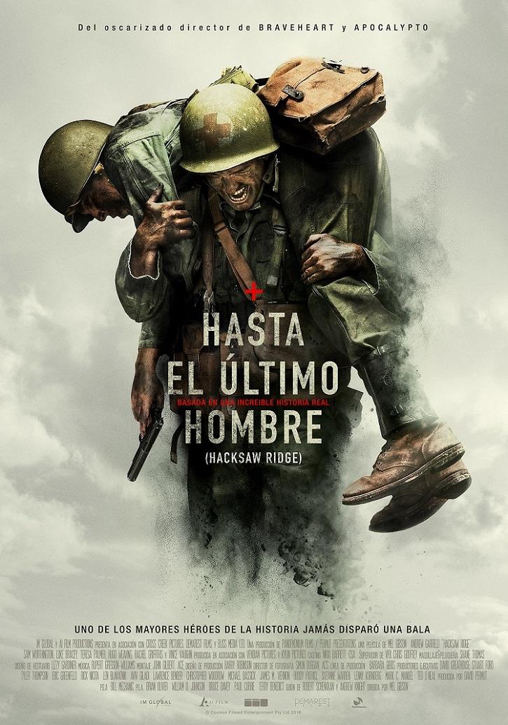 Cartel promocional del filme | 'Hasta el último hombre': Hiperrealista drama bélico sobre el héroe actual